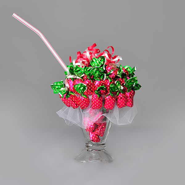 Strawberry Sundae Candy Bouquet